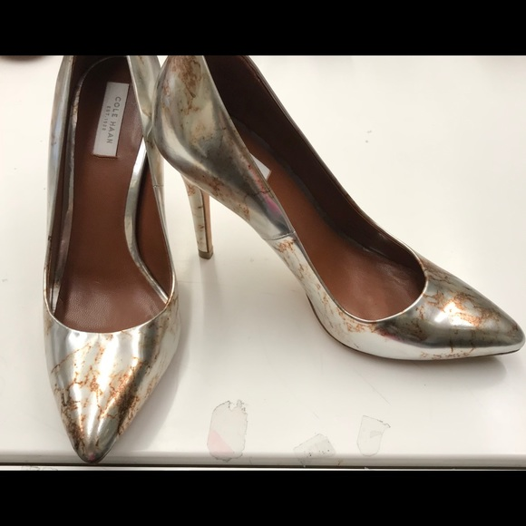 Cole Haan scarpe   Design argento Metallic Wmarbled Design  Detailing Size 6   b38351